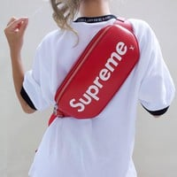 Supreme x LV Red Belt bag