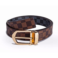 Louis Vuitton LV Classic Woman Men Fashion Smooth Buckle Belt Leather Belt