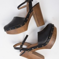 Studded Platform Clogs