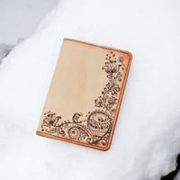 Passport Holder Handmade Leather Anniversary Gifts For Girls Travel Case Cover Valentines Mom Gift Ideas For Her Custom Painting Passaporto