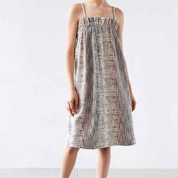 Ecote Textured Ruffle Sack Dress