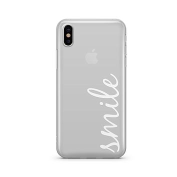 Smile Quote - Clear TPU - iPhone Case