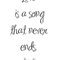 Love Is A Song - Bambi Quote Art Print by prettypetalspaper on Etsy