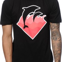 Pink Dolphin Winter Wave T-Shirt