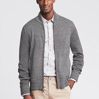 Banana Republic Mens Bomber Sweater Jacket