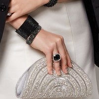 Anjelica Fan Clutch | Special Occasion Evening Bags, Hollywood Glam | charming charlie