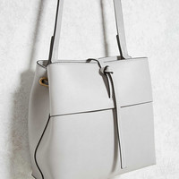 Structured Faux Leather Bag