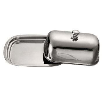 Stainless Steel Retro Butter Dish with Lid