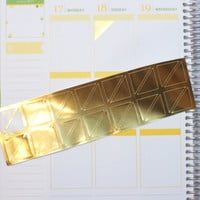 28 Gold Foil Corner Tab PlannerStickers (P025)