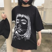 Harajuku Kawaii Black T Shirt