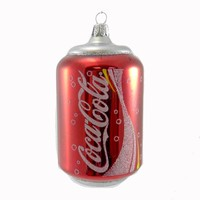 Holiday Ornament COCA-COLA CAN Glass Drink Soda gc0276