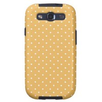 Beeswax Color And White Medium Polka Dots from Zazzle.com