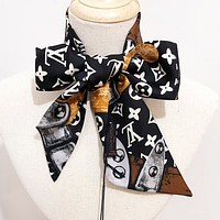 Inseva LV Louis Vuitton Fashion Women Men Multi-Purpose Scarf Silk Scarves