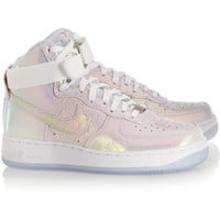 Nike | Air Force 1 leather high-top sneakers | NET-A-PORTER.COM