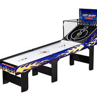 Carmelli NG2015 Carmelli Hot Shot Foldable Skeeball Table with Reinforced Legs Built-in Automatic Ball Return System and 2 Player Electronic LED Scoring