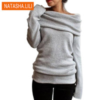2016 Hot Sweaters Knitted pullover Sweater Women Sweater Jumper Women Sweaters Pull Femme Winter Long sleeve Wool Female