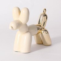 Dual Color Balloon Dog Bookend