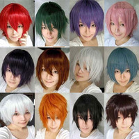 Harajuku Anime Tokyo Ghoul Wig Cosplay Short Straight Heat Resistant Synthetic Hair Wig/Wigs For Japanese Anime 12 Colors