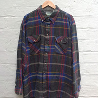 Men's Flannel by Whitefish Bay Size XL Multi-Color Plaid