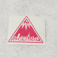 3x4 Inch Triangle Adventure Troop Badge/Scout Badge Permanent Vinyl Decal/Bumper Sticker