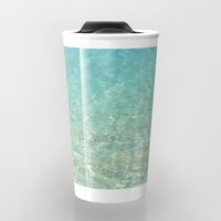 Colors of the Sea Water - Clear Turquoise Travel Mug by Lena Photo Art