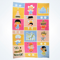 """Disney Parks """" It's a Small World """" Blanket Thrown New With Tags"""