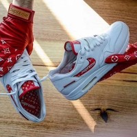 One-nice™ Supreme x Louis Vuitton x Nike Air Max 1 Custom Running Sneakers Sport Shoes