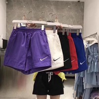 """Nike"" Women Casual Fashion Simple Hook Logo Shorts  Leisure Pants Sweatpants"