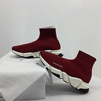 Balenciaga Speed Trainer socks boots women men's fashion breathable sneakers running shoes