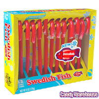 Swedish Fish Candy Canes: 12-Piece Box
