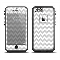 The Gray & White Chevron Pattern Apple iPhone 6 LifeProof Fre Case Skin Set