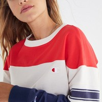 Champion & UO Colorblock Long Sleeve Tee | Urban Outfitters