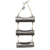 Home Decor GALVANIZED WALL HANGING Metal Twine Planters 9725791