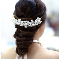 Hot Sell New Fashion Romantic Wedding Dress Handwork Crystal Headband Jewelry Bride Headwear Banquet Hair Accessories Gift = 1929354436