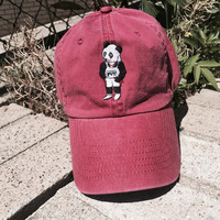 PVT. Daniel The Panda - Red Polo Hat Ring Buckle Closure