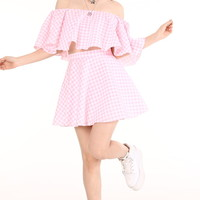 Glitters For Dinner — Made To Order - Lolita Pink Gingham Set