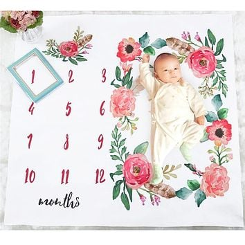 Newborn Baby Play Mat Blanket Manta Photo Blankets Diaper Photography Calendar Baby детский коврик Background Photo Accessories