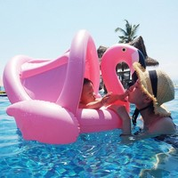 Inflatable Toddler Flamingo Pool Floatie