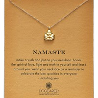 Women's Dogeared 'Reminder - Namaste' Pendant Necklace
