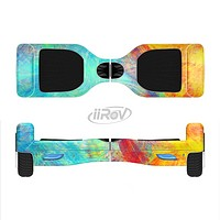 The Vibrant Colored Messy Painted Canvas Full-Body Skin Set for the Smart Drifting SuperCharged iiRov HoverBoard