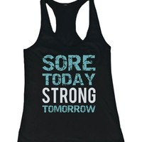 Women's Work Out Tank Top - Cute Workout Tanks, Lazy Tanks, Gym Clothes