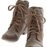 ModCloth Rustic Quilty as Charged Boot