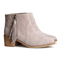 H&M - Suede Boots - Pink - Ladies