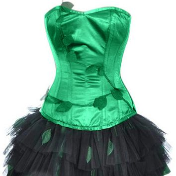 Atomic Poison Ivy Inspired Corset Dress Costume