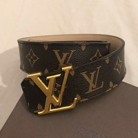 Louis Vuitton Mens Monogram Leather Belt