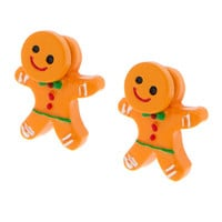 Gingerbread Man Front and Back Earrings