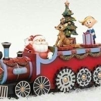Musical Rudolph Christmas Train Figure - Officially Licensed