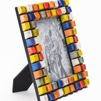 Multicolor Keyboard Photo Frame - Earthbound Trading Co.