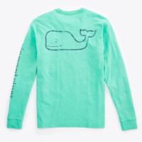 Vineyard Vines Long Sleeve Vintage Graphic T-Shirt- Grenada Green