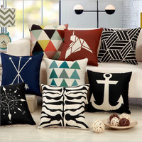 Modern Creative Geometric printing 45x45cm Home/Office/Sofa/Bed Decorative Cushion/Throw Pillow(Not Contain Filling)